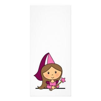 Cute Cartoon Clip Art Princess in a Pink Dress Personalised Rack Card