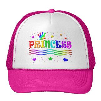 Cute Cartoon Clip Art Rainbow Princess Tiara Trucker Hat