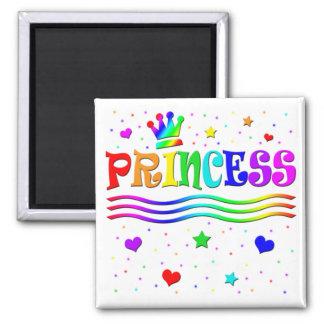 Cute Cartoon Clip Art Rainbow Princess Tiara Magnet