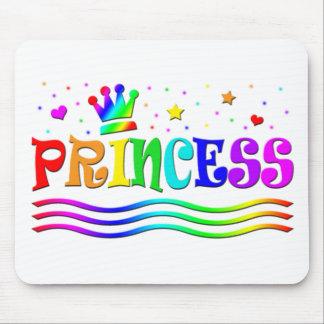 Cute Cartoon Clip Art Rainbow Princess Tiara Mousepad