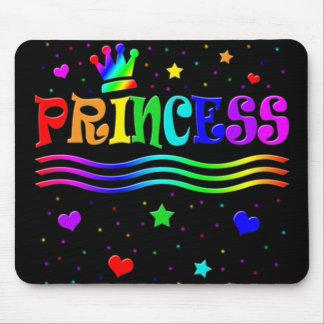 Cute Cartoon Clip Art Rainbow Princess Tiara Mouse Pad