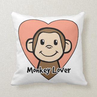 Cute Cartoon Clip Art Smile Monkey Love in Heart Cushion