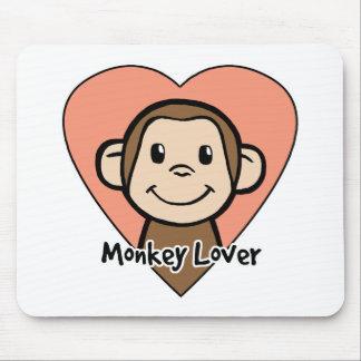 Cute Cartoon Clip Art Smile Monkey Love in Heart Mouse Mat