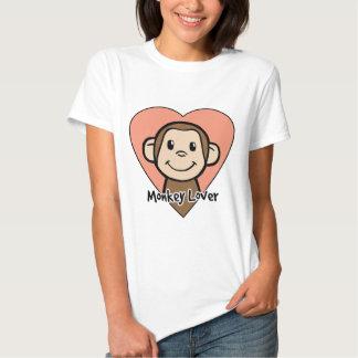 Cute Cartoon Clip Art Smile Monkey Love in Heart Tshirts