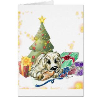Cute Cartoon Cocker Spaniel Christmas Card