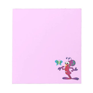 Cute Cartoon Confused Alien Notepad
