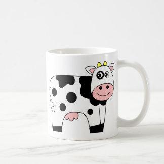 Cute Cartoon Cow Basic White Mug