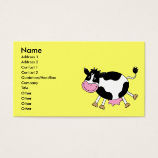 Cute cartoon cow business card