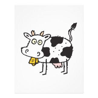 cute cartoon cow 21.5 cm x 28 cm flyer