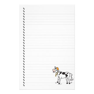 Cute Cartoon Dairy Cow Lined Pet Stationery
