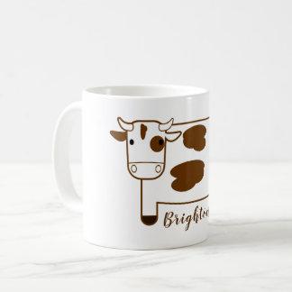 Cute Cartoon Dairy Cow Personalized Coffee Mug