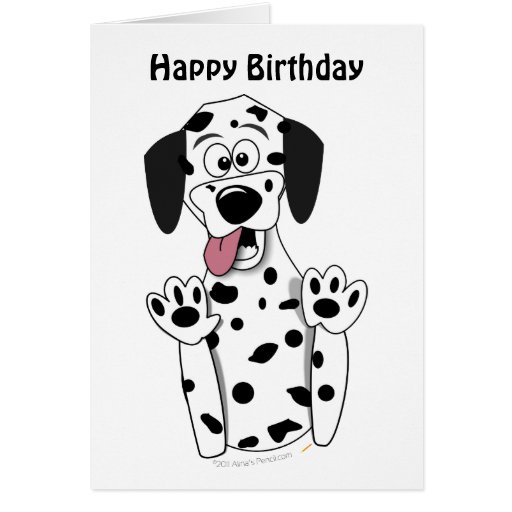 dalmatian birthday card template zazzle