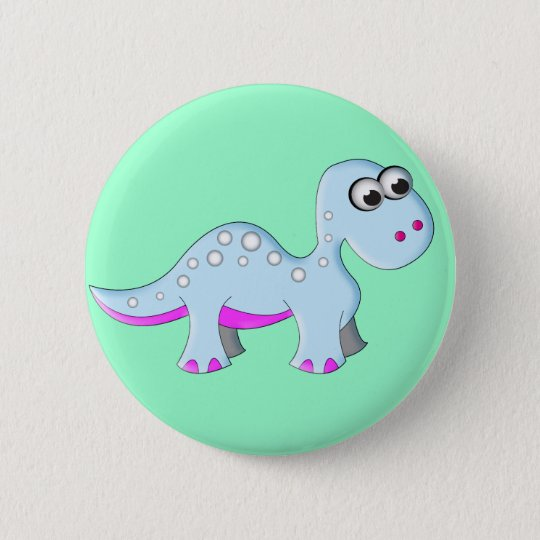 Cute Cartoon Dinosaur 6 Cm Round Badge