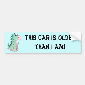 Cute Cartoon Dinosaur Bumper Sticker