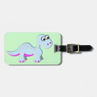 Cute Cartoon Dinosaur Luggage Tag