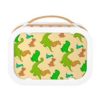 Cute Cartoon Dinosaur Pattern Lunch Box
