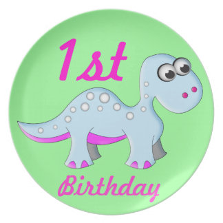 Cute Cartoon Dinosaur Plate
