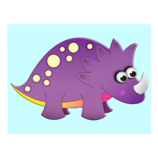 Cute Cartoon Dinosaur Postcard