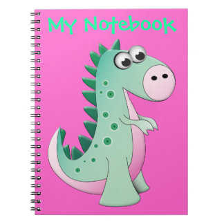 Cute Cartoon Dinosaur Spiral Notebook