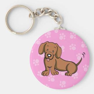 Cute Cartoon Dog Dachshund Keychain