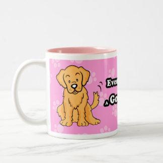 Cute Cartoon Dog Golden Retriever Mug