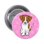 Cute Cartoon Dog Jack Russell Button