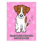 Cute Cartoon Dog Jack Russell Postcard