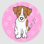 Cute Cartoon Dog Jack Russell Sticker