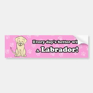 Cute Cartoon Dog Labrador Bumper Sticker