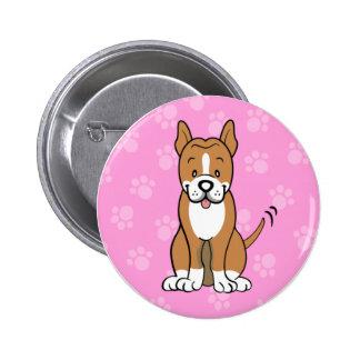 Cute Cartoon Dog Pitbull Button