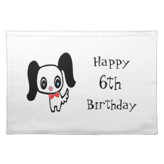 Cute Cartoon Dog Placemat