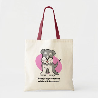Cute Cartoon Dog Schnauzer Bag