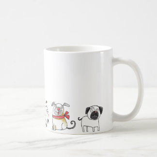 cute cartoon dogs coffee mug