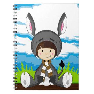 Cute Cartoon Donkey Girl Notebook
