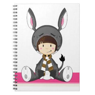 Cute Cartoon Donkey Girl Notebooks