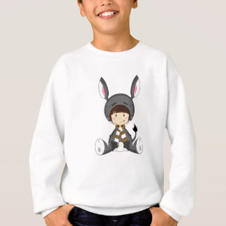 Cute Cartoon Donkey Girl Sweatshirt