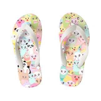 Cute cartoon doodles flip flops