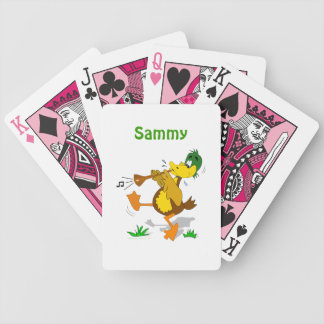 Cute Cartoon Duck Musical Kids Name Playing Cards