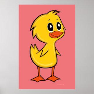 Cute Cartoon Duck Poster