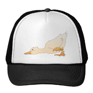 Cute Cartoon Duckling with Its Head to the Ground Cap