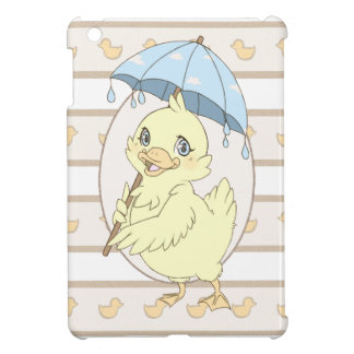 Cute cartoon duckling with umbrella cover for the iPad mini
