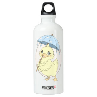 Cute cartoon duckling with umbrella SIGG traveller 0.6L water bottle
