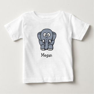 Cute cartoon elephant personalize with childs name tees