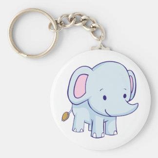 Cute Cartoon Elephant Shirts Key Ring