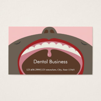 Cute Cartoon Face Dental Appointment Business Card