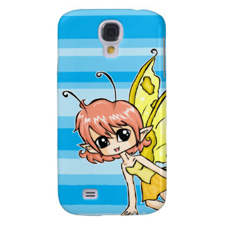 Cute cartoon fairy with yellow wings galaxy s4 case