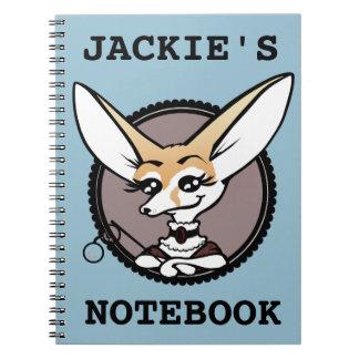 CUTE CARTOON FENNEC FOX GRAPHIC SPIRAL NOTEBOOK