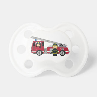 Cute Cartoon Fireman and Fire Engine Dummy