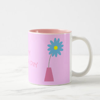 Cute cartoon flowers in vase Mother´s Day mug