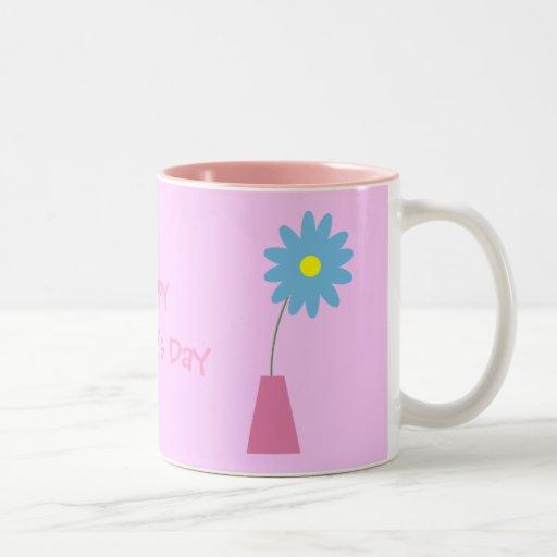 Cute cartoon flowers in vase Mother´s Day mug